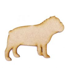 Bulldog Craft Blank, Dog Shape Laser Cut from 3mm MDF, Card Topper